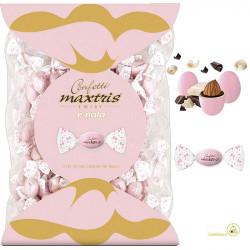 Busta Twist Maxtris Rosa da 1 Kg confetti cioco-mandorla classico