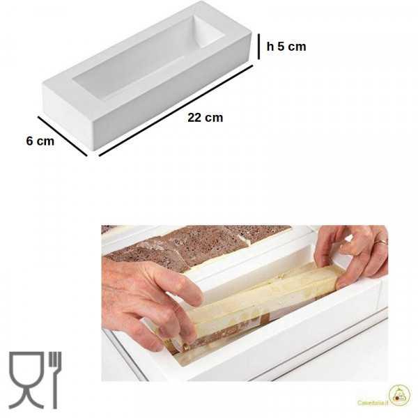 Stampo Inserto Tronchetto o Insert Buche Buche Bianco 22 cm