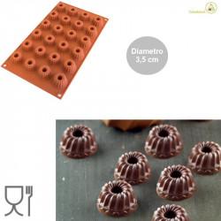 Stampo Mini Gugelhopf in silicone diametro 3,5 cm da Silikomart