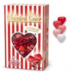 Confetti Cuoricini Mignon sfumati Rosso in confezione da 500 g di Crispo