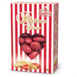 Confetti rossi con 42% di mandorla minimo Pelatina Etna di Crispo in confezione da 400 g
