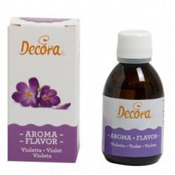 50 g Aroma naturale violetta per impasti e creme per dolci e torte da Decora