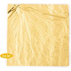 5 Fogli di oro alimentare 23 carati da 86 x 86 mm da Decora