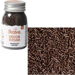 Bastoncini di zucchero marroni color cacao 90 g da Decora
