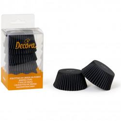 75 Pirottini Muffin in carta nera diametro 5 cm altezza 3,2 cm da Decora