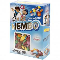 Nembo Lenticchie di Cioccolato al latte in colori assortiti da Crispo in confezione da 1 Kg
