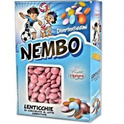 Confetti Nembo Lenticchie rosa di Cioccolato al latte da 1kg di Crispo