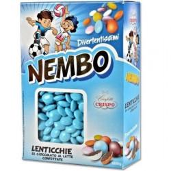 Confetti Nembo Lenticchie celesti di Cioccolato al latte da 1kg di Crispo