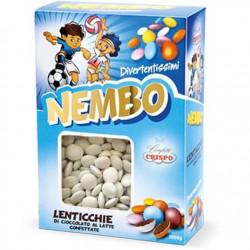 Confetti Nembo Lenticchie bianche di Cioccolato al latte da 1kg di Crispo