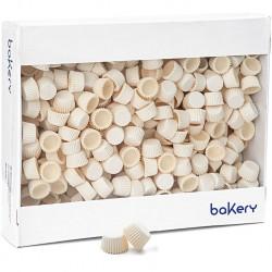 5000 Pirottini Mini Bonbon bianchi in carta forno per confetti diametro 2 cm altezza 1,4 cm da Decora