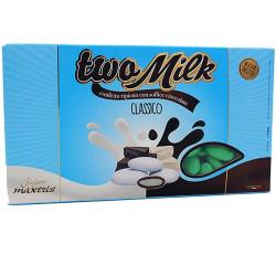 Classico Verde Two Milk: confetti al cioccolato bianco e Latte in confezione da 1 Kg da Maxtris.