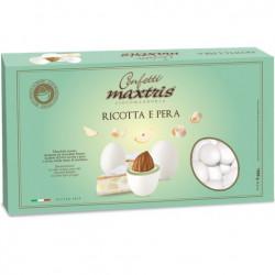 Maxtris Ricotta e Pera, confetti bianchi i cioco-mandorla Maxtris al gusto torta ricotta e pera da 1 Kg