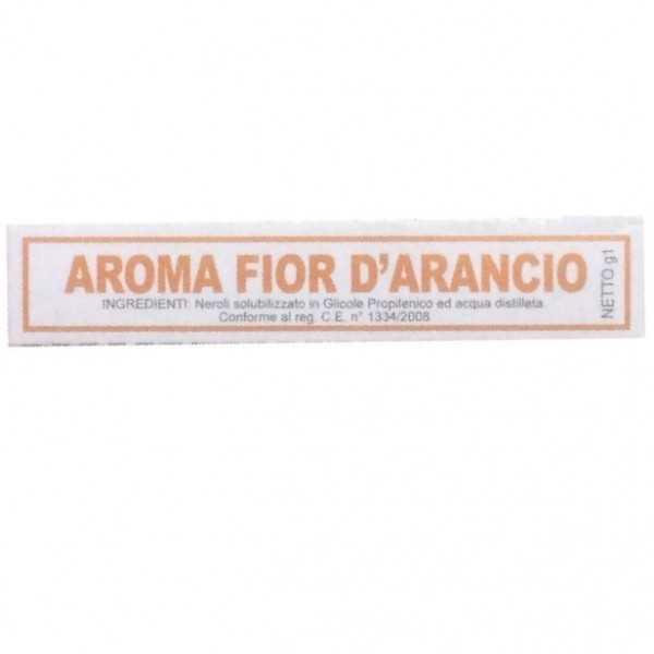 Aroma fior d'arancio liquido da Madma in fiala da 1 g, per aromatizzare impasti e creme per dolci