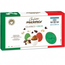 Maxtris Classico Verde, confetti verdi cioco-mandorla da 1 Kg