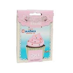 Colorante in polvere rosa, uso alimentare, idrosolubile in bustina da 5 g, di Madma
