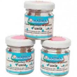 Colorante in polvere Fucsia pastello, uso alimentare, idrosolubile in barattolo da 20 g, da Madma