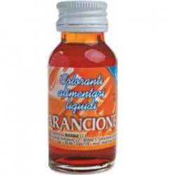 Colorante alimentare liquido Arancione, idrosolubile in bottiglia da 35 g