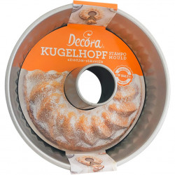 Stampo Gugelhupf o Kouglof in acciaio antiaderente diametro 22 cm, altezza 11,5 cm da Decora