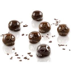 Amleto Stampo in silicone 12 cioccolatini a teschio da 3 cm h 21 mm SGC055 3D da Silikomart