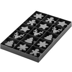 Voila' Cookie Winter Holiday stampo T-Plus+ Puzzle Albero di Natale 24 x 15 cm h 2 cm da Silikomart