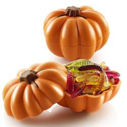Pumpkin Zucca Cioccolato 3D Kit 2 Stampi Termoformati da Silikomart