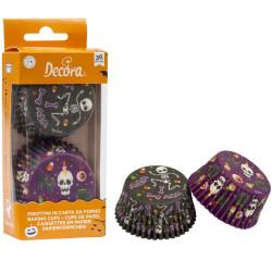 36 Pirottini Muffin in carta decoro Happy Halloween diametro 5 cm altezza 3,2 cm da Decora