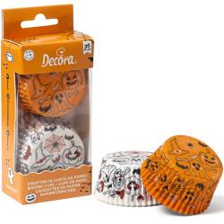 36 Pirottini Muffin in carta decoro Pumpkin & Ghost o zucca e fantasma diametro 5 cm altezza 3,2 cm da Decora
