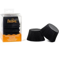 60 Pirottini Jumbo Muffin in carta nera diametro 5,5 cm altezza 4,5 cm da Decora