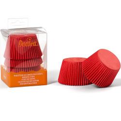 60 Pirottini Jumbo Muffin in carta rossa diametro 5,5 cm altezza 4,5 cm da Decora