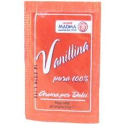 Vanillina pura 100% in polvere confezionata in bustina da 0,5 g da Madma