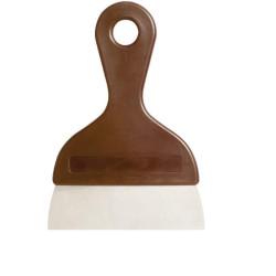 Tarocco o spatola o raschia multiuso in metallo con manico in plastica larga 14 cm, alta 4 cm