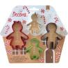 4 Taglia-biscotti La famiglia di gingerbread in plastica da Decora