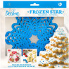 8 Taglia-biscotti albero stella di ghiaccio in plastica da Decora
