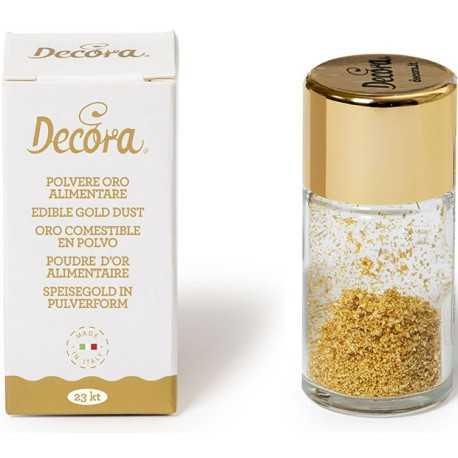 0,125 g oro alimentare in polvere 23 carati da Decora