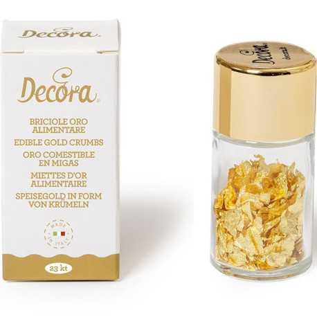 0,125 g oro alimentare in briciole 23 carati da Decora