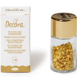0,125 g oro alimentare in fiocchi 23 carati da Decora