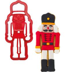 Taglia-biscotti schiaccianoci forma soldatino in plastica da Decora