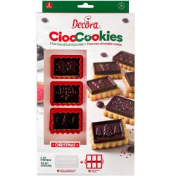 Set Tagliapasta in plastica per gallette e Stampo Termoformato per placchette di Cioccolato da Decora