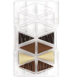 Stampo cioccolato Coni medi 3D in policarbonato da Decora