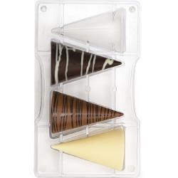 Stampo cioccolato Coni grandi 3D in policarbonato da Decora