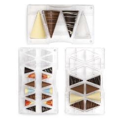 Set 3 Stampi cioccolato Coni 3D in policarbonato da Decora