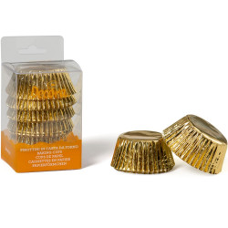 60 Pirottini Muffin oro in carta diametro 5 cm altezza 3,2 cm da Decora