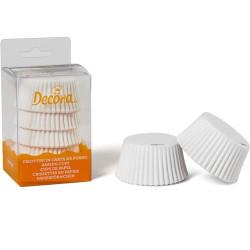 75 Pirottini Muffin in carta bianca diametro 5 cm altezza 3,2 cm da Decora