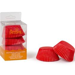 75 Pirottini Muffin in carta rossa diametro 5 cm altezza 3,2 cm da Decora