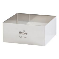 Cornice Quadrato 24 x h 4,5 cm, sagoma in acciaio inox di forma quadrata, lato 24 cm ed alta 4,5 cm da Decora