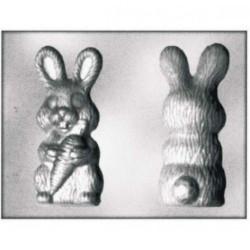 Stampo cioccolato Coniglio con Carota Termoformato da Silikomart