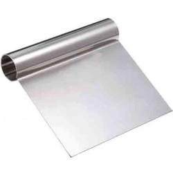 Raschia per cioccolato in acciaio inox larga 10,5 cm e lunga 10,5 cm