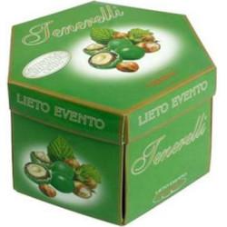 Lieto Evento Tenerelli Verde Promessa: vassoio confetti tondi alla nocciola da 500 g di Crispo
