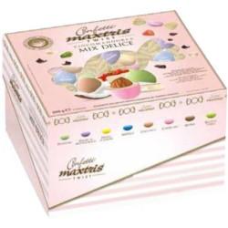 Cadeaux Twist Mix Delice : confetti ciocomandorla incartati singolarmente da Maxtris in vassoio da 500g