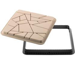 Kit Tarte Liberty Stampo in Silicone con Anello Quadrato per Crostata a Mosaico da 20 cm da Silikomart